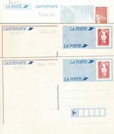 Cartes 2860 CP 1 En Double  Et 3083 CP 1 Non Circules - Entiers Postaux
