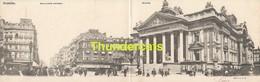 CPA  CARTE DOUBLE BRUXELLES BOULEVARD ANSPACH BOURSE TRAM VAN CORTENBERGH DUBBELE KAART BRUSSEL - Avenues, Boulevards
