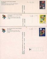 Cartes 3010, 3011 Et 3012 Non  Circules,Lens, Montpellier Et St Etienne - Postal Stamped Stationery