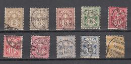 1882/89   LOT OBLITERES  BONNE COTE  CATALOGUE ZUMSTEIN - 1882-1906 Wappen, Stehende Helvetia & UPU