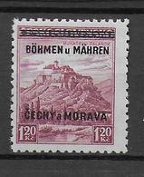 """BÖHMEN UND MÄHREN - 1939 - MICHEL N° 11 I VARIETE SANS POINT APRES """"U""""  ** MNH - SIGNES GILBERT (COTE 2009 = 50 EUR) - Neufs"""