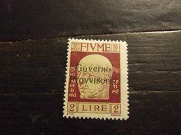 FIUME 1921 GOVERNO PROVVISORIO 2 L NUOVO * - 8. Occupazione 1a Guerra
