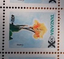 TANZANIA, MNH, FLOWERS, 1v OVERPRINT - Plants