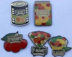 St MAMET - Lot De 5 - (Conserves Fruits) - Badges