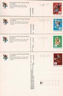 Cartes 3130,3131,3074 Et 3075 Non  Circulées, Lyon,Marseille, St Denis Et Bordeaux - Postal Stamped Stationery
