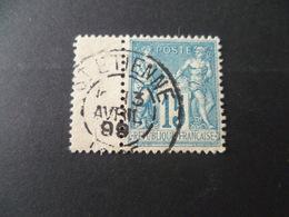 SAGE  15 Cts Bleu  OBLITERE  ST ETIENNE LOIRE - 1876-1898 Sage (Type II)