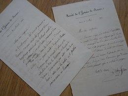 Jean DUCHESNE (1799-1855) ICONOGRAPHIE. Conservateur ESTAMPES Bibliothèque. AUTOGRAPHE - Handtekening