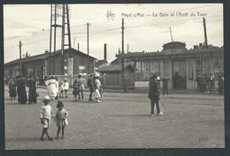 +++  CPA - HEIST - HEYST - Gare Et Arrêt Du Tram - Statie   // - Heist