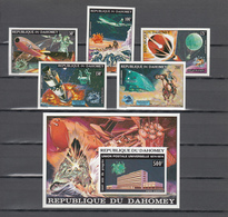 Dahomey 1974,5V+Block,IMP,centenario De La UPU 1874-1974,Union Postale Universelle,MNH/Postfris(L3329) - UPU (Universal Postal Union)