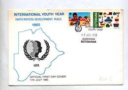 Lettre Fdc 1985  Annee Jeunesse - Botswana (1966-...)
