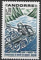 ANDORRE    -   1969  .  Y&T N° 196 **.    Canoë-kayak. - Unused Stamps