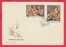 238901 /  FDC 1968 - ART Ion Theodorescu-Sion WOMEN , Jan Van Bijlert Dutch Painter NUDE BABY , Romania Rumanien - FDC