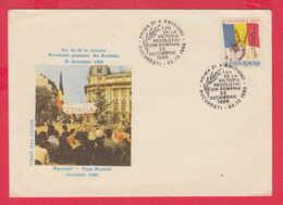 238913 / FDC 1989 - Romanian Revolution 22 December 1989 , FLAG ,  Romania Rumanien - FDC