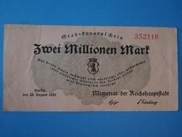 Stadtkassenschein 2 Millionen Mark, Berlin, 1923 - 1918-1933: Weimarer Republik