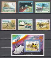 Liberia 1974,6V+Block,IMP,centenario De La UPU 1874-1974,Union Postale Universelle,MNH/Postfris(L3330) - UPU (Universal Postal Union)