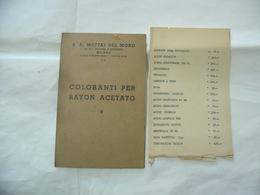 DEPLIANT LIBRETTO MATTAI DEL MORO COLORANTI PER RAYON ACETATO HOLLIDAY HUDDESFIELD - Médecine, Biologie, Chimie