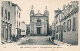CPA - France - (69) Rhône - Neuville Sur Saone - Eglise, Place Voltaire - Neuville Sur Saone