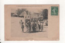 Missions Catholiques D Abyssinie Groupe D Enfants Cachet Bm Au Dos - Christianity