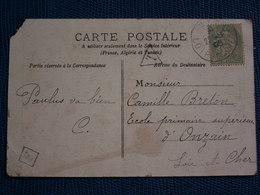 CPA   1905 BLIDAH Affranchie à 5 C.. +  Lettre T Et Facteur Boîtier/ Absence De Timbre Taxe - Autres - Afrique