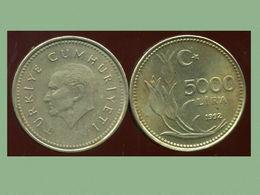 TURQUIE 5000 Lira 1992 - Turquie