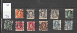 1905  LOT   COTE PLUS DE 700 FRS.  CATALOGUE ZUMSTEIN - 1882-1906 Wappen, Stehende Helvetia & UPU