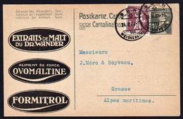 SUISSE: RARE Entier   Pub. Malt Du Dr. Wander.Ovomaltine, Formitrol. Timbre De L'entier..................... - Entiers Postaux
