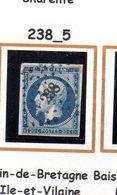 Fance : Petit Chiffre N° 238 : Bain De Bretagne  ( Ille Et Vilaine ) Indice 5 - Marcophilie (Timbres Détachés)