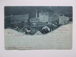 CPA Original 1906: Gruss Aus KARLSBAD (Oostenrijk-Hongaars Rijk)  -aan Sander PIERRON, Auteur, Journalist, Kuntcriticus, - Ecrivains