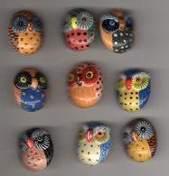 Série Complète 8 Fèves Plates Brillantes + 1 Fève Variante C'EST CHOUETTE Les Chouettes 2 Arguydal 2005 - Animals