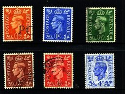 GREAT BRITAIN - 1950-51  KGVI  COLOURS CHANGED  SET FINE USED - Usati