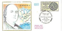 FDC Indépendance Américaine Traités De Paris Et De Versailles 1783 (78 Versailles 02 Septembre 1983) - FDC