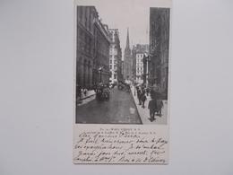 CPA Original 1901: Pivate Mailing Card Van Wall Street N.Y.  -aan Sander PIERRON, Auteur, Journalist, Kuntcriticus, - Ecrivains