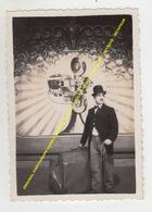ORIGINAL OLD PHOTOGRAPH CHARLY CHARLIE CHAPLIN SUITCASE VALISE LOOK ALIKE / IMITATOR / IMITATEUR - Acteurs