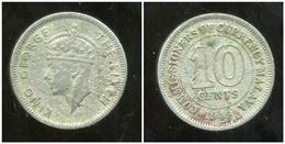MALAISIE ( MALAYA British Colony ) 10 Cents 1949 - Malaysie