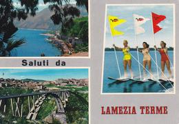 CATANZARO - Saluti Da Lamezia Terme - 3 Vedute - Sci Nautico / Acquatico - Water Ski - Pin Up - 1974 - Lamezia Terme