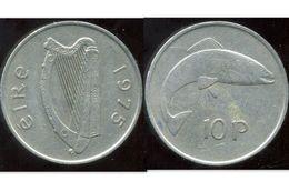 IRLANDE 10 Pence 1975 - Irlande