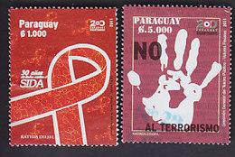 Paraguay: Lutte Contre Le SIDA  YT 3075. Lutte Contre Le Terrorisme YT 3078 - Paraguay