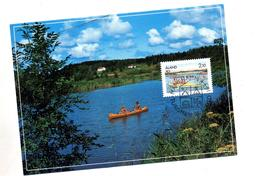 Carte Maximum 1991 Canoe - Aland