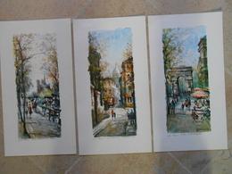 Delarue- 3 Reproductions PARIS- 549 N.D. Et Les Quais,550 Rue Morvins, 546 L'Arc De Triomphe - Other Collections