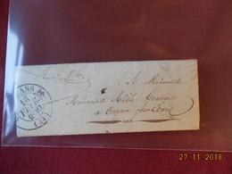 Lettre A Destination De Onzain De 1830 - 1801-1848: Précurseurs XIX
