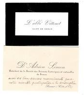 Semur En Auxois: 2 Cartes De Visites  Voir Scan - Vieux Papiers