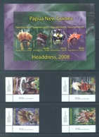 PAPUA NEW GUINEA -  MNH/*** LUXE - 2008 - HEADDRESS - Yv 1231-1234 1235-1238 -  Lot 18259 - Papouasie-Nouvelle-Guinée
