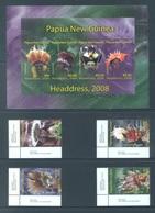 PAPUA NEW GUINEA -  MNH/*** LUXE - 2008 - HEADDRESS - Yv 1231-1234 1235-1238 -  Lot 18259 - Papua-Neuguinea