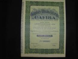"Part Soc.""Cafria""Comptoirs Africains Antverpia Leopoldville Congo Belge 1928. - Afrique"