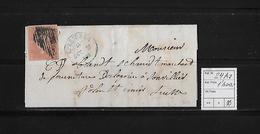 1854-1862 SITZENDE HELVETIA Ungezähnt (Strubel)  → SBK-24Aa / A1 Brief VERRIERES - Lettres & Documents