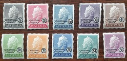 Iles Christams - YT N°1 à 10 - Elizabeth II - 1958 - Neufs - Christmas Island