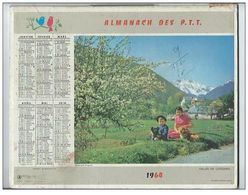 Calendrier Almanach Des P.T.T De 1964 Photo Vallée De Lesponne Et Villeneuve - Complet - Avec Année Bissextile - Petit Format : 1961-70