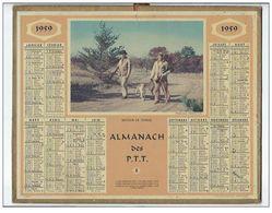 Calendrier Almanach Des P.T.T De 1959 Avec Des Chasseurs - Calendriers