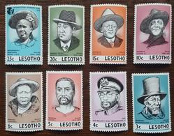 Lesotho - YT N°285 à 292 - Personnages Célèbres - 1975 - Neufs - Lesotho (1966-...)