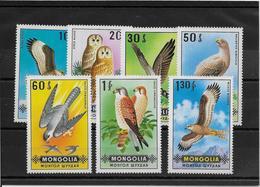 Mongolie N°532/538 -  Oiseaux - Neufs ** Sans Charnière - TB - Mongolie